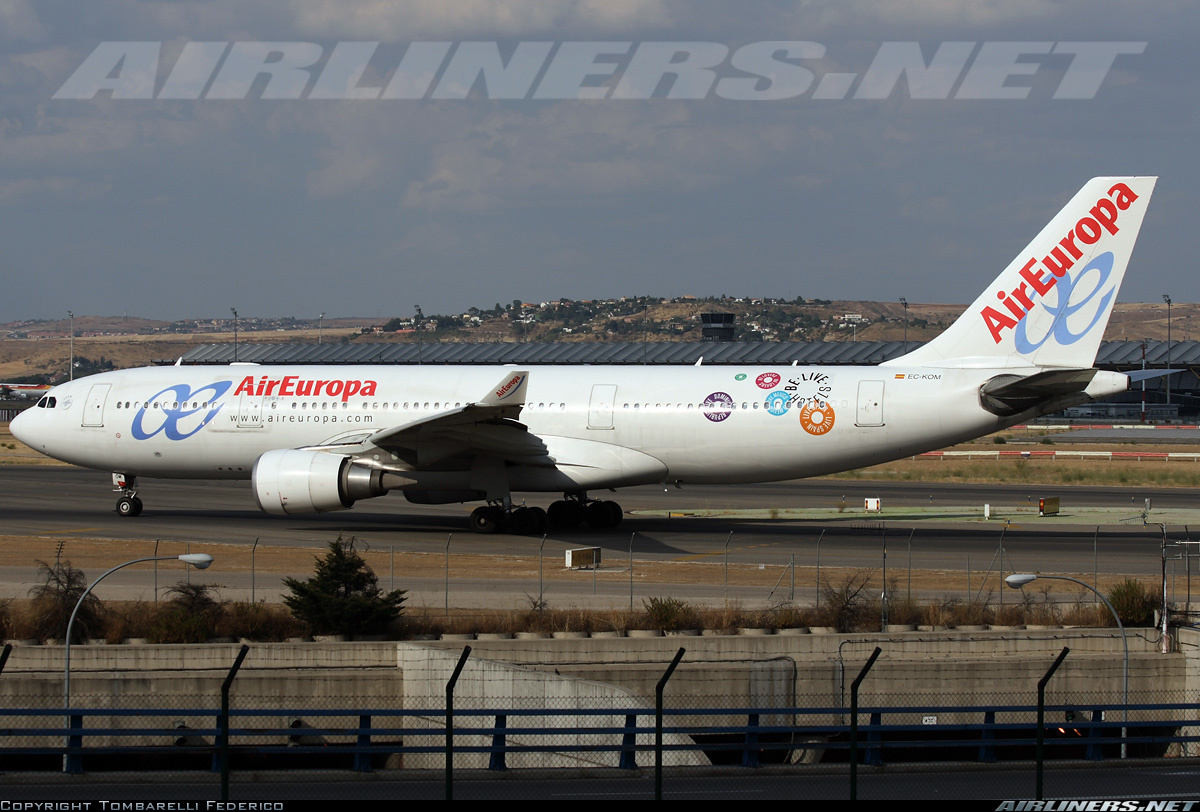 Air Europa Airbus A 330 with the BeLive hotels campaign